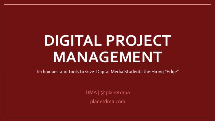 DMEC Digital Project Management